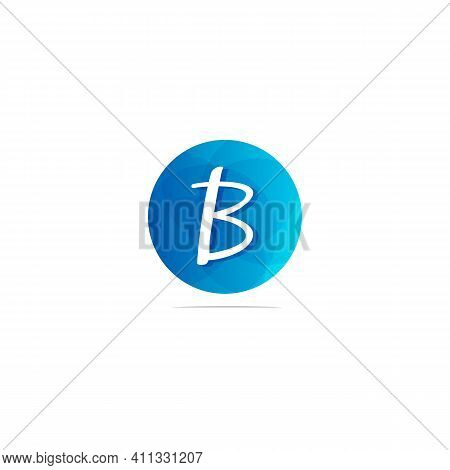 Abstract Circle Letter Logotype B. Suitable For Trademarks, Company Logos, And Others. Vector Illust