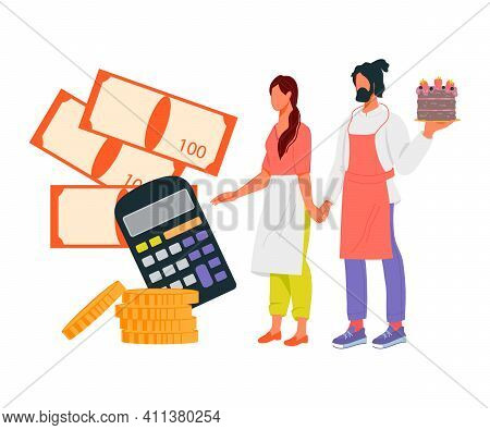 Loan For Small Business Development Concept With Business Owners. Financial Support Of Small Busines