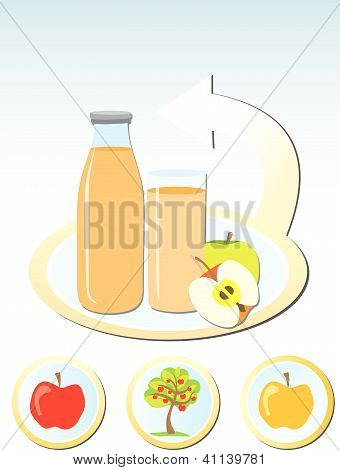 Concept of making apple juice