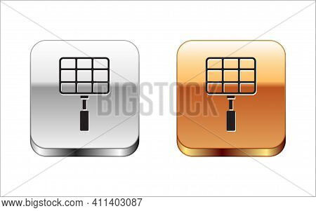 Isometric Barbecue Steel Grid Icon Isolated On White Background. Top View Of Bbq Grill. Wire Rack Fo