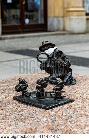 Wroclaw, Poland - May 03 2020: Dwarfs