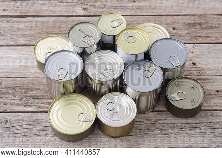 Tin Silver Cans For Tinned Food