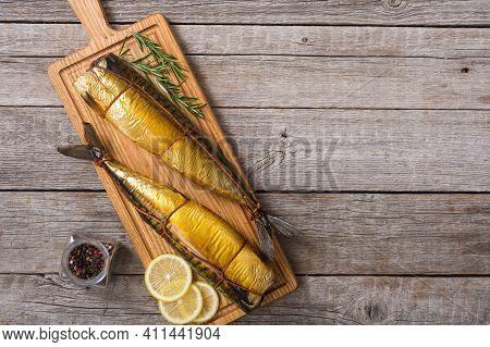 Golden Smoked Fish ( Mackerel ) And Ingredient
