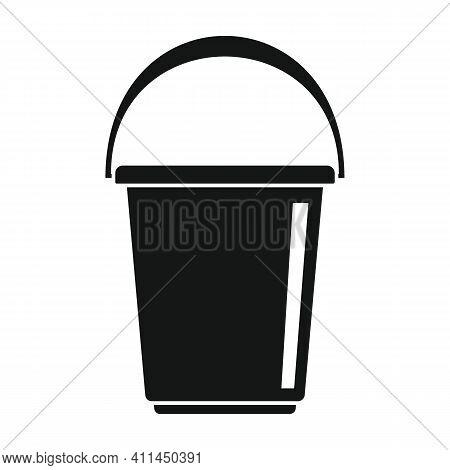 Modern Bucket Black Simple Icon. Vector Modern Bucket Black Simple Icon   Isolated On White Backgrou
