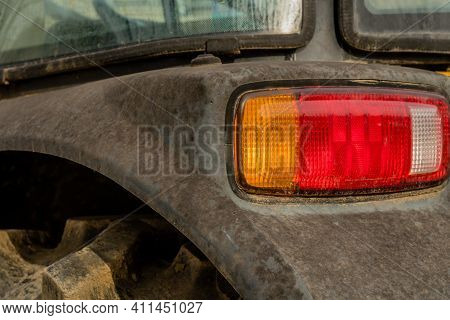 Left Rear Position Lamps (tail Lamps) On Fender Of Tractor