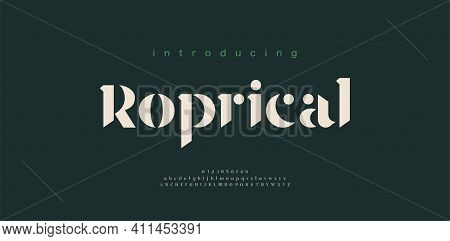 Luxury Alphabet Letters Font And Number. Classic Lettering Minimal Fashion Designs. Typography Elega
