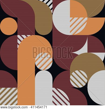 Abstract Geometric Style Of Retro 80s Template. Cover Design With Overlap Line Background. Illustrat