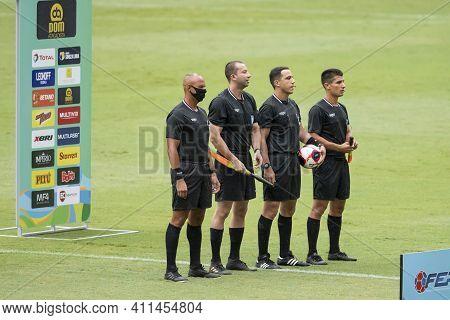 Rio, Brazil - March 07, 2021: Arbitration In Match Between Fluminense V Portuguesa By Carioca Champi