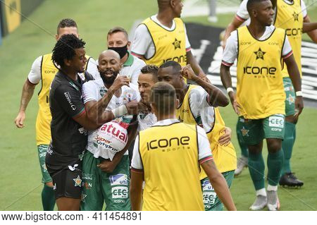 Rio, Brazil - March 07, 2021: Chay Player Celebrate Goal In Match Between Fluminense V Portuguesa By