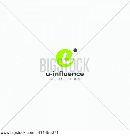 U Influence Logo Design With Letter U And I