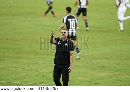 Rio, Brazil - March 07, 2021: Marcelo Chamusca Coach In Match Between Botafogo V Resende By Carioca