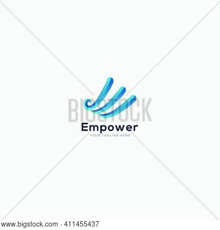 Empower Logo Design With Abstract Initial E Like Finance