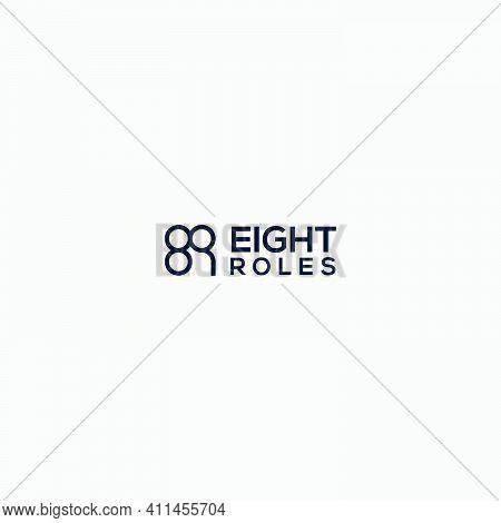 Eight Roles Logo Football Table Logo Design Initial 8 R