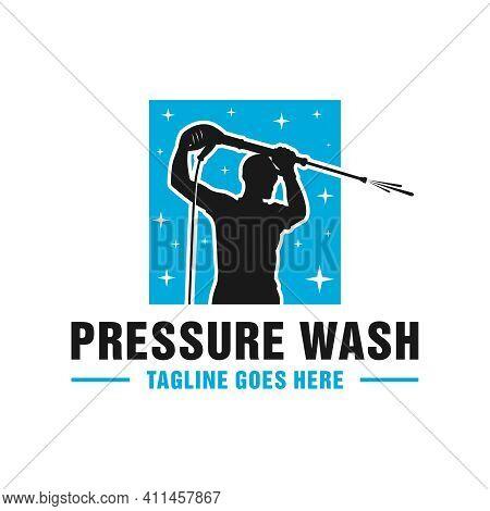High Pressure Washing Pipe Logo Design Or Brand