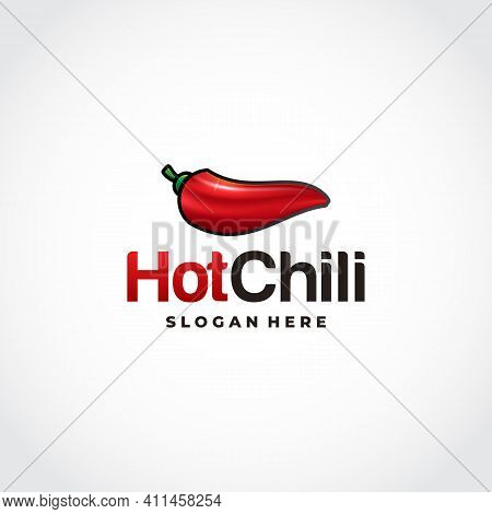 Red Hot Chili Logo In Mesh Style Designs, Spicy Pepper Logo Designs Template