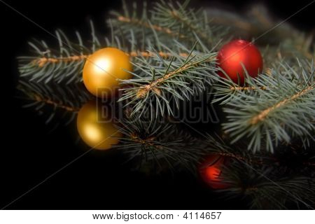 Christmas Decorations On Black