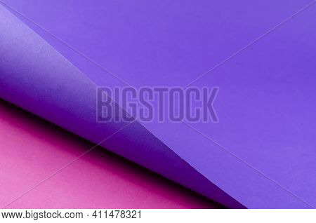 Two-color Abstract Geometric Background. Purple Pink Background With Diagonal Shadow. Selective Focu