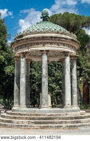 Diana Temple In Villa Borghese, Rome, Lazio, Italy
