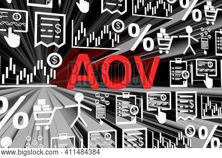 Aov Concept Blurred Background 3d Render Illustration