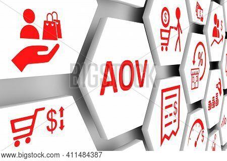 Aov Concept Cell Background 3d Render Illustration