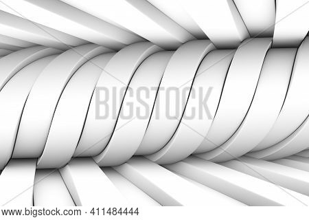Black And White Distortion Abstract Background 3d Render Illustration