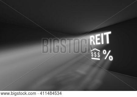 Reit Rays Volume Light Concept 3d Illustration