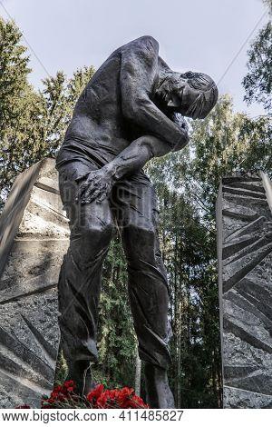 Katyn, Smolenskaya Oblast, Russia - 08 22 2020: Monument To The Victims Of The Katyn Massacre