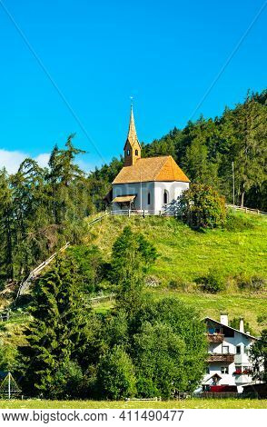 St. Anna Chapel At Graun Im Vinschgau Or Curon Venosta In South Tyrol, Italy