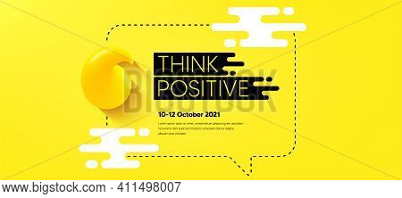 Quote Frame Template. Chat Speech Bubble. Think And Speak Cloud. Yellow 3d Quote Icon. Quotation Dia