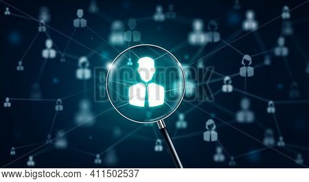 Hr Management, Recruitment, Employment, And Headhunting Concept. Officer Looking For Employee Or Lea