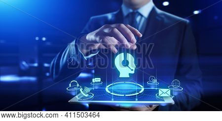 Technical Support Customer Service Call Center 24-7 Internet Business Concept.