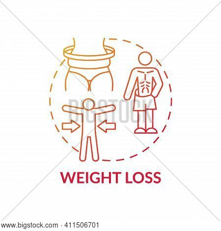 Weight Loss Concept Icon. Clinical Manifestations Idea Thin Line Illustration. Respiratory Distress