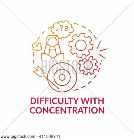 Difficulty With Concentration Concept Icon. Psychological Problems Idea Thin Line Illustration. Emot