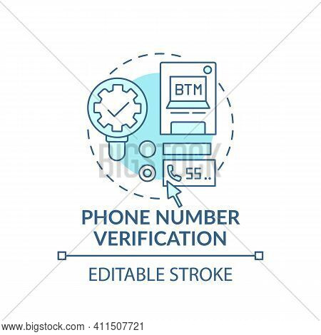 Phone Number Verification Concept Icon. Fake Opening Accounts Idea Thin Line Illustration. Cybercrim