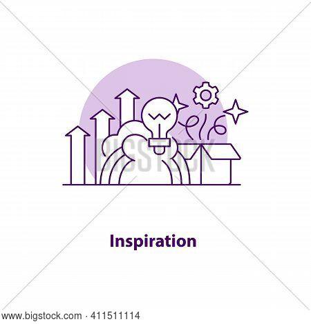 Inspiration Creative Ui Concept Icon. Creative Idea Abstract Illustration. Idea Generation. Business