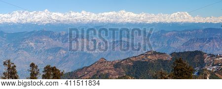 Mount Chaukhamba, Himalaya, Panoramic View Of Indian Himalayas, Great Himalayan Range, Uttarakhand I