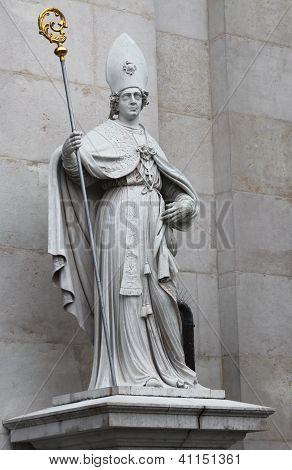 St. Vergilius statue  at Salzburg Cathedral, Austria