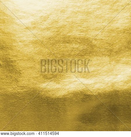 Gold Background Foil Leaf Metallic Golden Texture Shinny Wrapping Paper Bright Yellow Wallpaper For