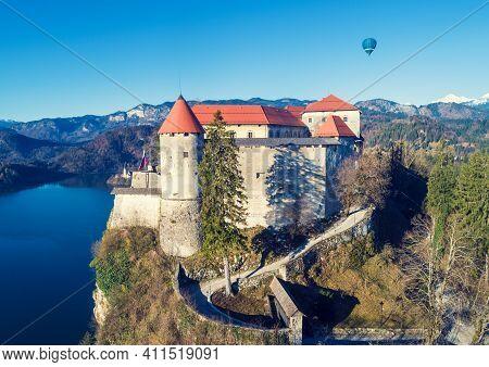Bled Castle On The Hill, A Historic Monument, Landmark, Bled Lake, Slovenia, Europe