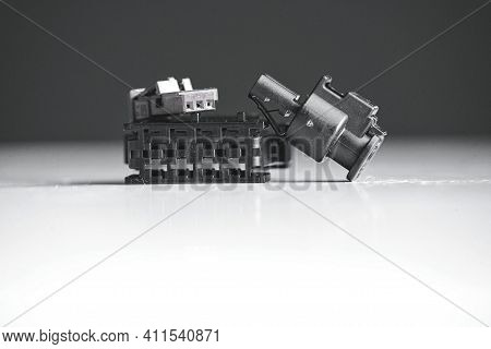 Spare Part From A Modern Electric Car. Necessary Spare Part For The Car