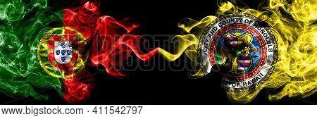 Portugal, Portuguese Vs United States Of America, America, Us, Usa, American, Honolulu, Hawaii Smoky