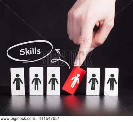 Coach Motivation To Skills Improvement. Education Concept. Training. Leadership Skills. Human Abilit