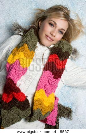 Winter Fashion Model