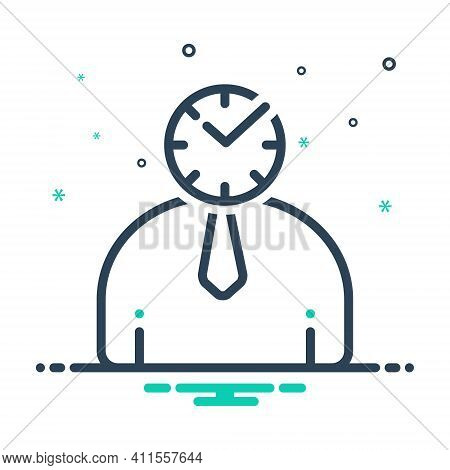 Mix Icon For Punctual Schedule Timely Periodic