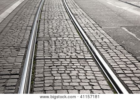 Tram Track on Cobbles
