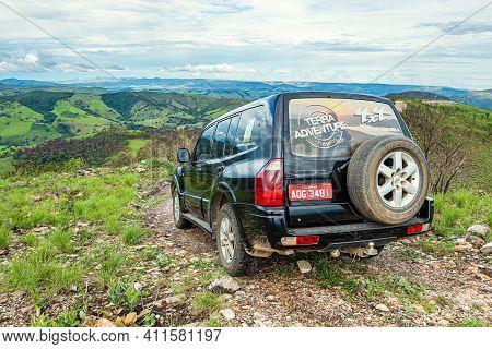 Capitólio - Mg, Brazil - December 10, 2020: Terra Adventure Passeios 4x4. Tourist Car That Takes Tou