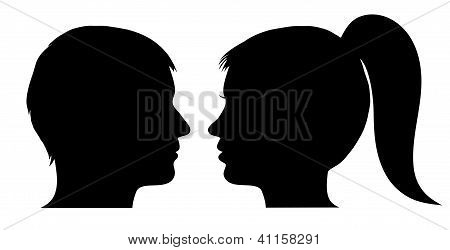 Man And Woman Face Profile