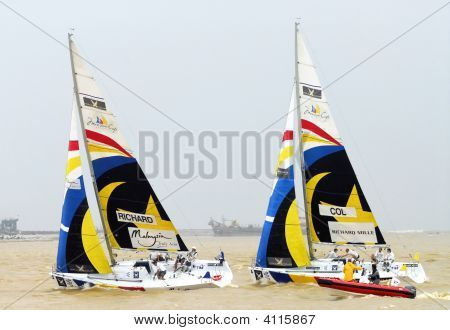Yachting Race Between Two Boats