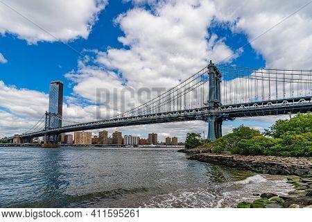 Manhattan Bridge Over East River Brooklyn Historical Society Dumbo And Waterfront Condominium Manhat