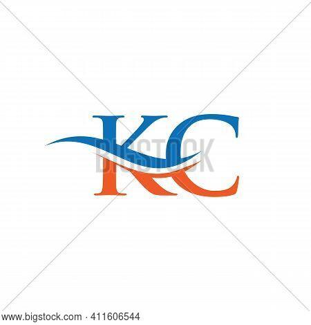Initial Gold Kc Letter Logo Design With Modern Trendy. Kc Logo Design